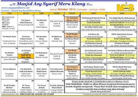 JADUAL MAS - 10-2013x
