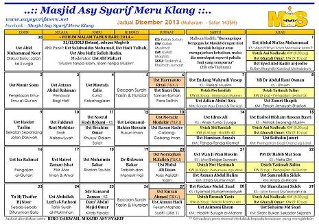 JADUAL MAS - 12- 2013x