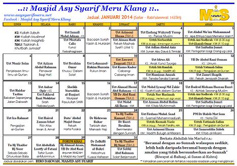 JADUAL MAS - 01-2014