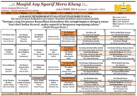 JADUAL MAS - 08-2014