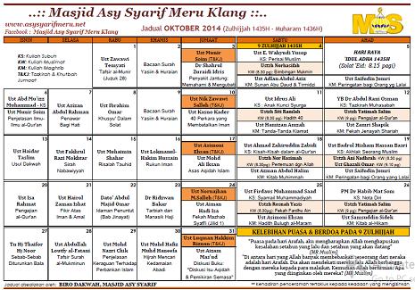JADUAL MAS - 10-2014
