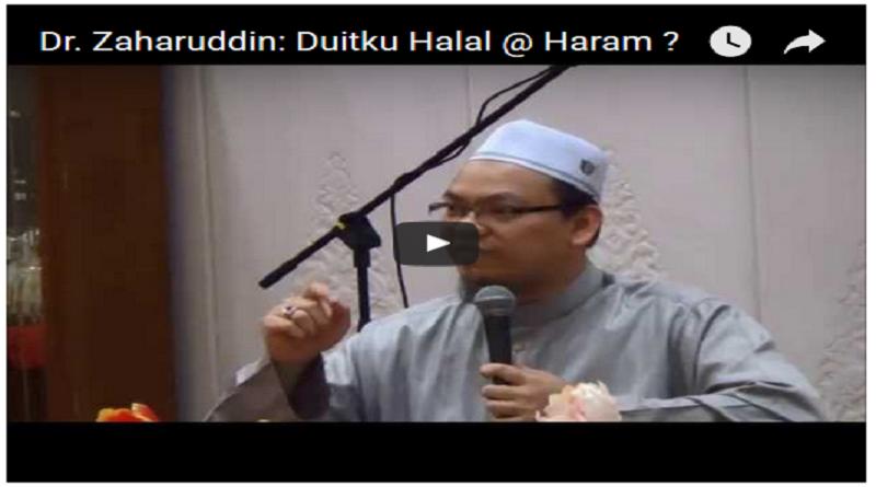 ust dr zaharuddin duitku halal haram