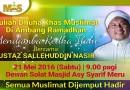 Kuliah Dhuha Khas Muslimat – Di Ambang Ramadhan