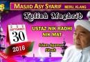 Kuliah Maghrib – 30 Sept 2016