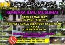 Kembara Ilmu Muslimat – Rabu 22 Mac 2017