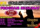 Prog Muslimat – Munajat & Tazkirah – 8 Apr Sabtu