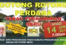 Gotong Royong Perdana Tanah Perkuburan Meru 2019