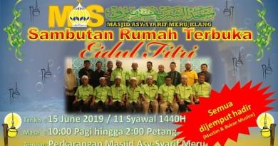 Sambutan Rumah Terbuka Eidul Fitri 2019