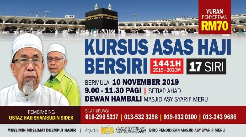 Kursus Haji Bersiri 2019-2020