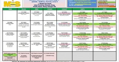 Jadual Kuliah Okt 2019