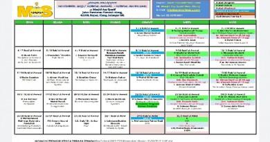 Jadual Kuliah/Pengajian Nov 2019