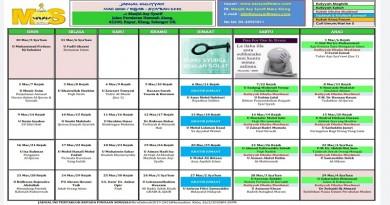 Jadual Kuliah/Pengajian Bulan Mac 2020