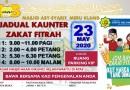 Jadual Kaunter Zakat Fitrah